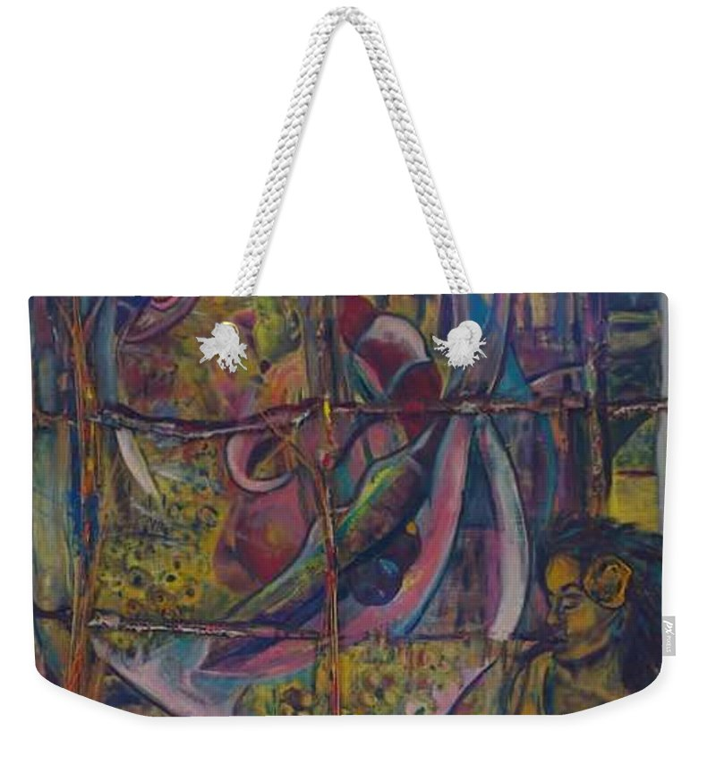 Mother Weekender Tote Bag featuring the painting Goodbye Sweet Dreams by Peggy Blood