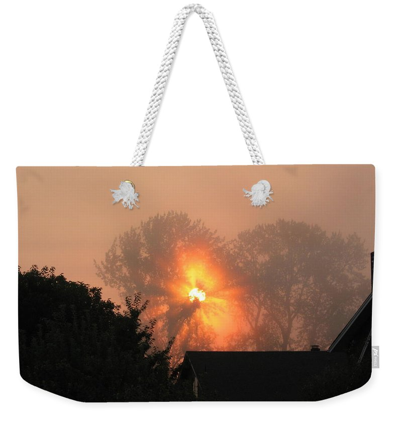 Landscapes Weekender Tote Bag featuring the photograph Goodnight Kiss by Shari Chavira