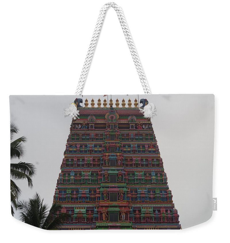 Architecture Weekender Tote Bag featuring the photograph Gopuram by Satish Kumar