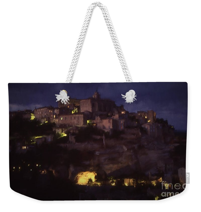 Gorde Weekender Tote Bag featuring the photograph Gorde By Night by Robert Brown