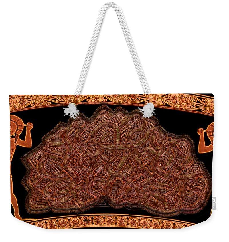 Legend Weekender Tote Bag featuring the digital art Gordian Knot by Mark Sellers