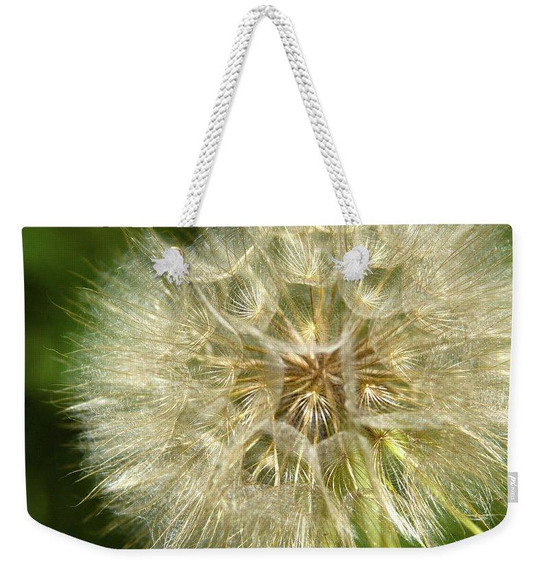 Dandelion Weekender Tote Bag featuring the photograph Gossamer Summer by Marie Leslie