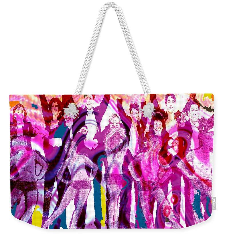 Joy Weekender Tote Bag featuring the digital art Got To Dance by Seth Weaver