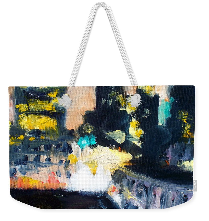 Des Moines Weekender Tote Bag featuring the painting Gotham by Robert Reeves
