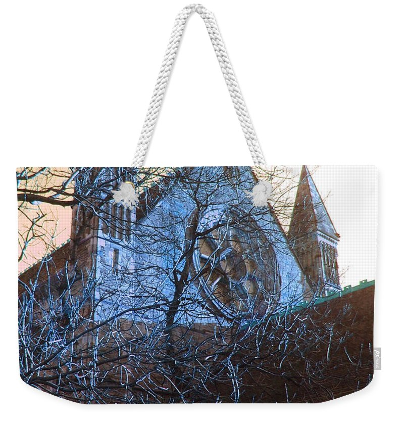 Scotland Weekender Tote Bag featuring the photograph Gothic Church by Heather Lennox
