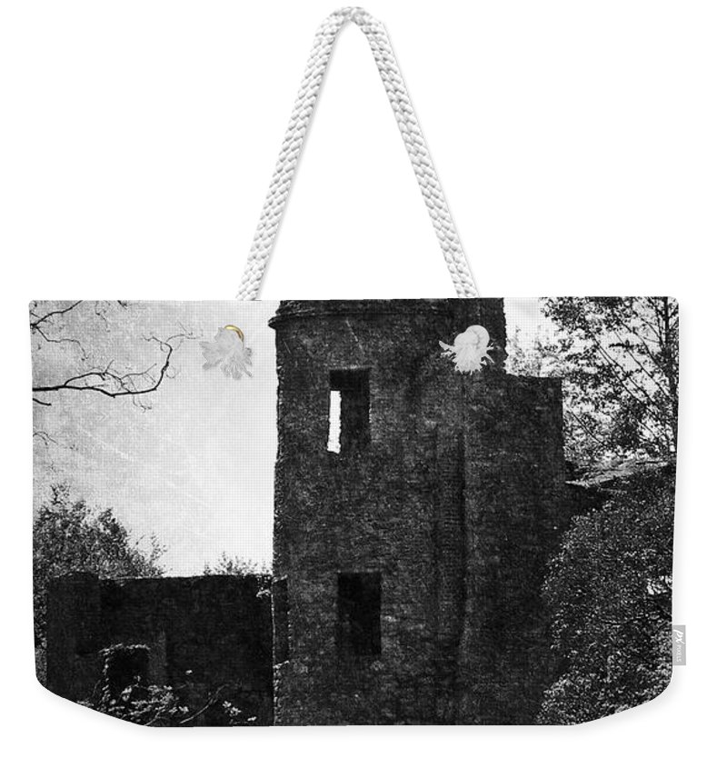 Irish Weekender Tote Bag featuring the photograph Gothic Tower At Blarney Castle Ireland by Teresa Mucha