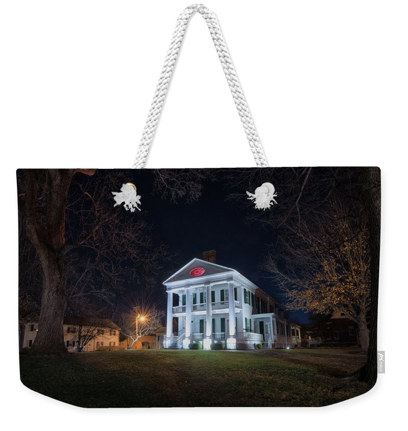 Weekender Tote Bag featuring the photograph Governor John Wood Mansion by Toni Taylor