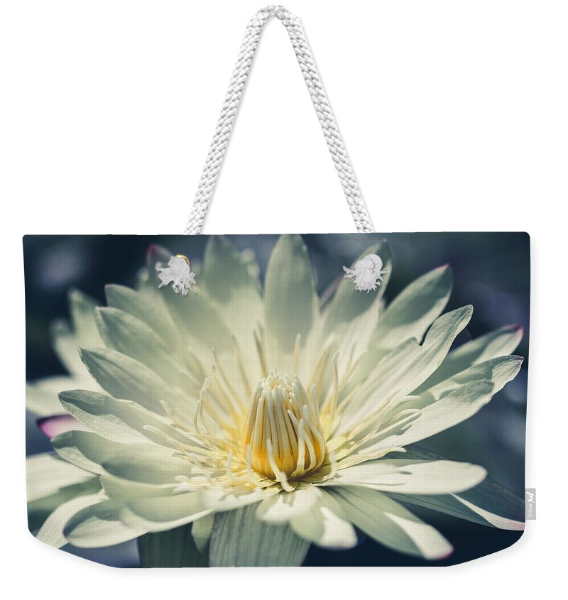 Flower Weekender Tote Bag featuring the photograph Grace by Laura Roberts