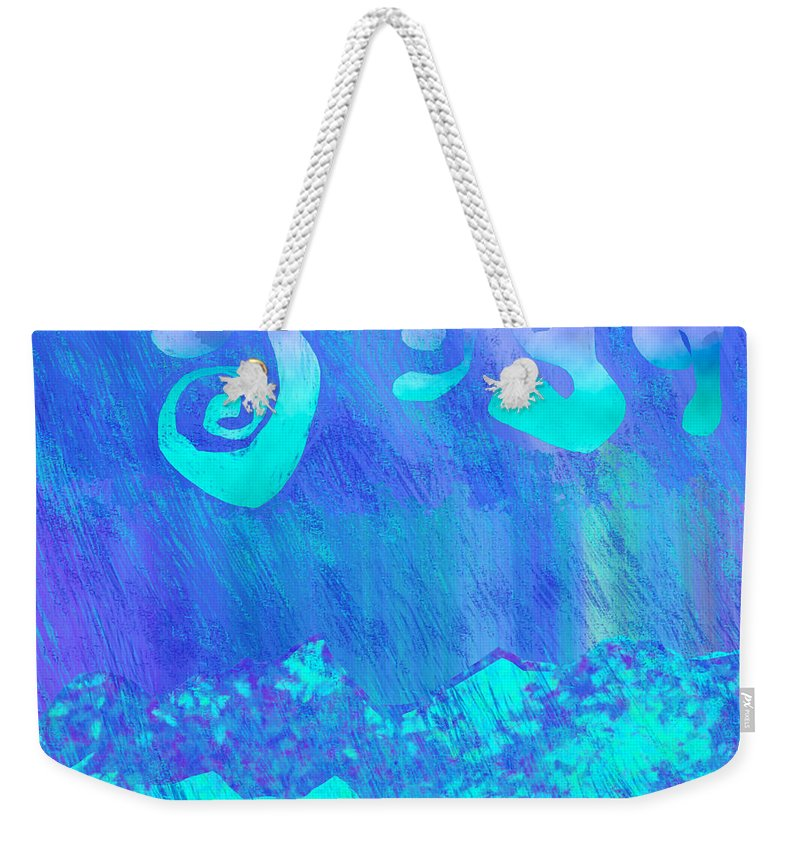 Abstract Weekender Tote Bag featuring the painting Grace Of Rain by Victor Vosen