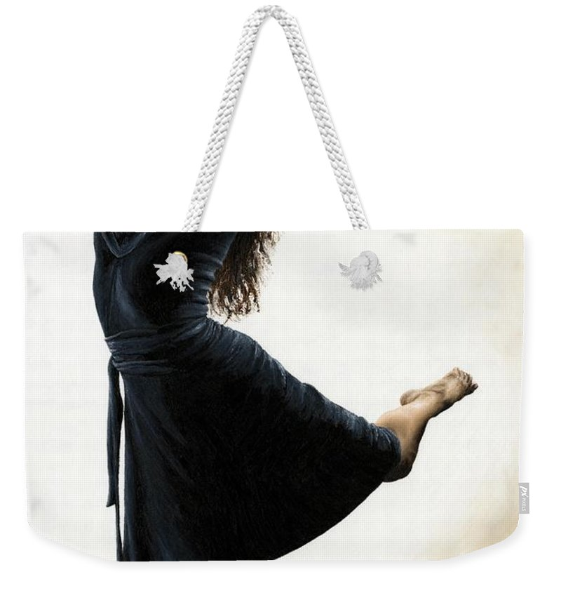 Dancer Weekender Tote Bag featuring the painting Graceful Enlightenment by Richard Young