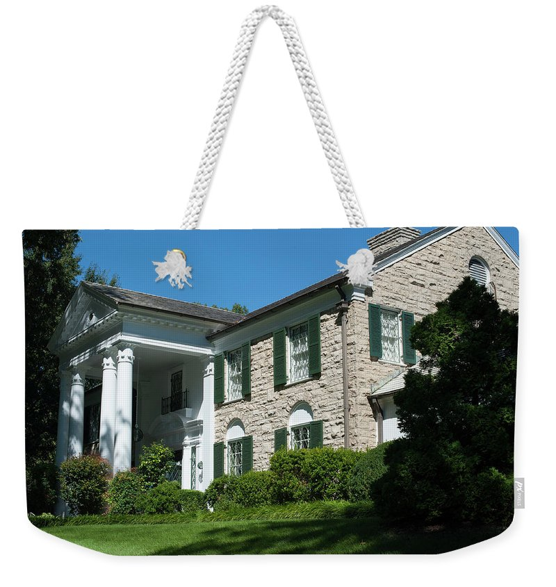 Graceland Weekender Tote Bag featuring the photograph Graceland Home Of Elvis Presley, Memphis, Tennesseen by Timothy Wildey