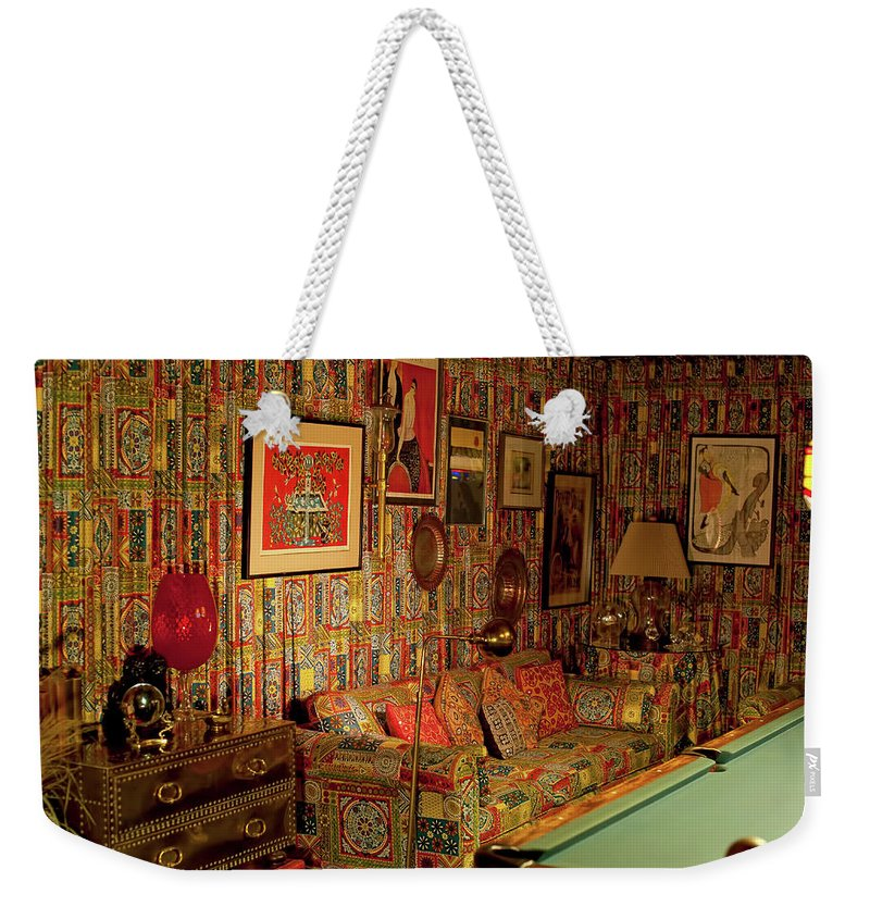 Recreation Room Weekender Tote Bag featuring the photograph Graceland The Home Of Elvis Presley, Memphis, Tennessee by Timothy Wildey