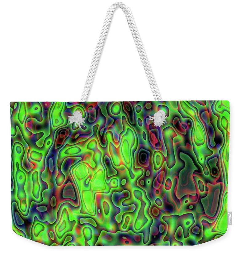 Gradient Weekender Tote Bag featuring the digital art Gradient Series 3 by Ron Bissett
