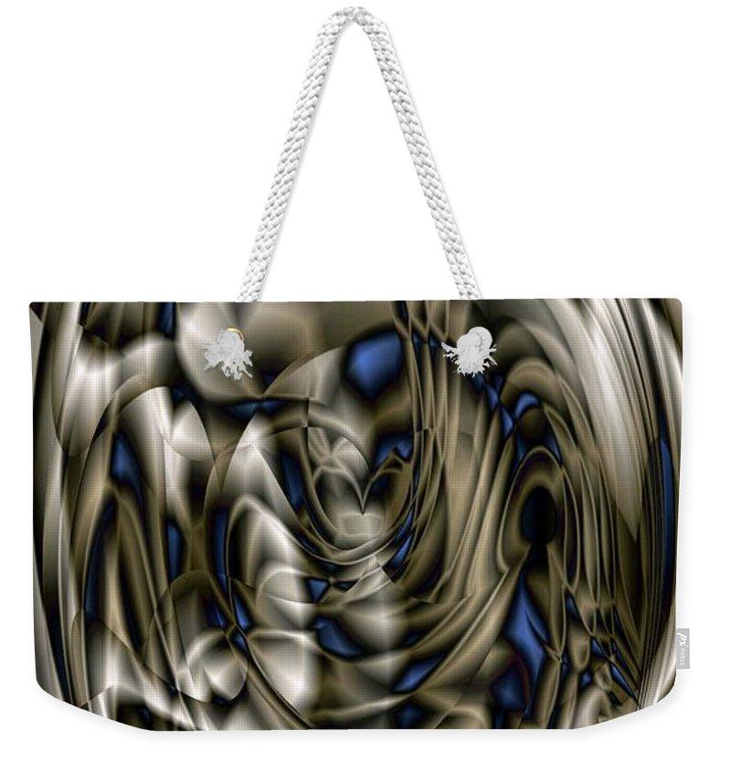Pewter Weekender Tote Bag featuring the digital art Gradient Series 5 by Ron Bissett