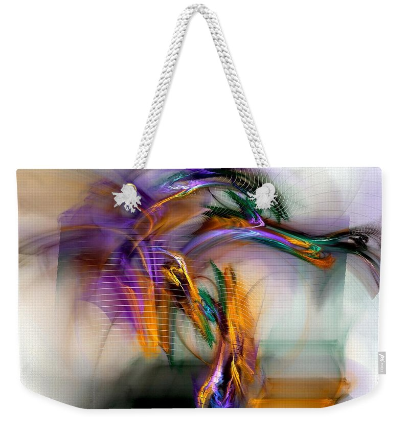 Graffiti Weekender Tote Bag featuring the digital art Graffiti - Fractal Art by NirvanaBlues