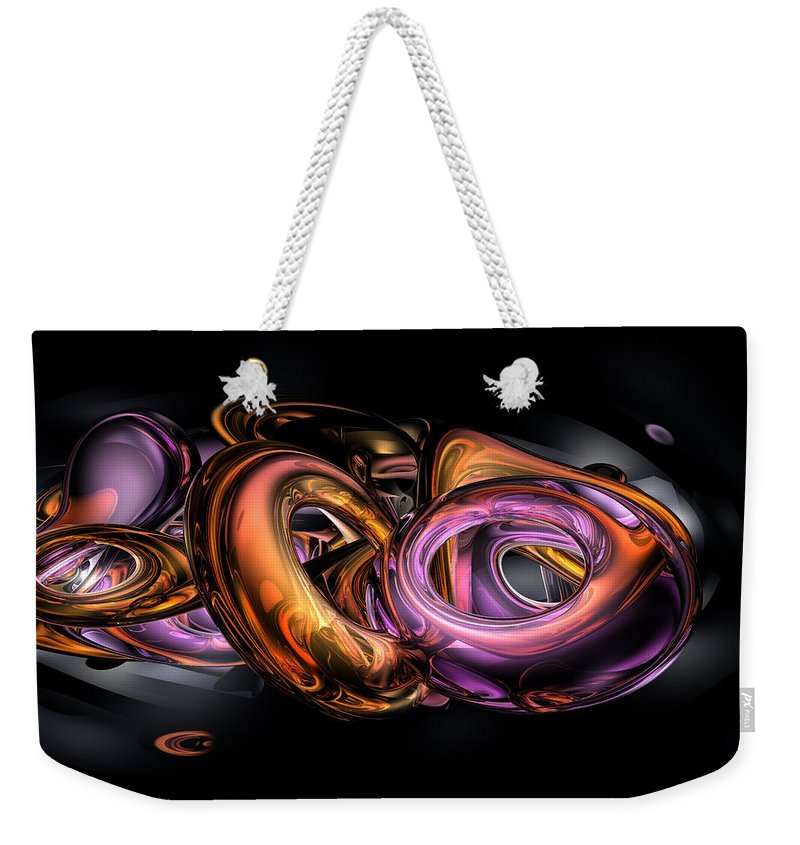 3d Weekender Tote Bag featuring the digital art Graffiti Abstract by Alexander Butler