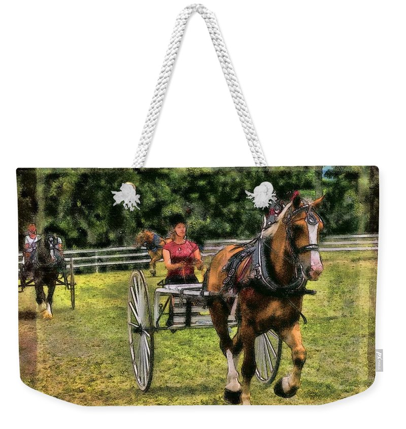 Horse Weekender Tote Bag featuring the photograph Grahamsville Ny Fair by Ericamaxine Price