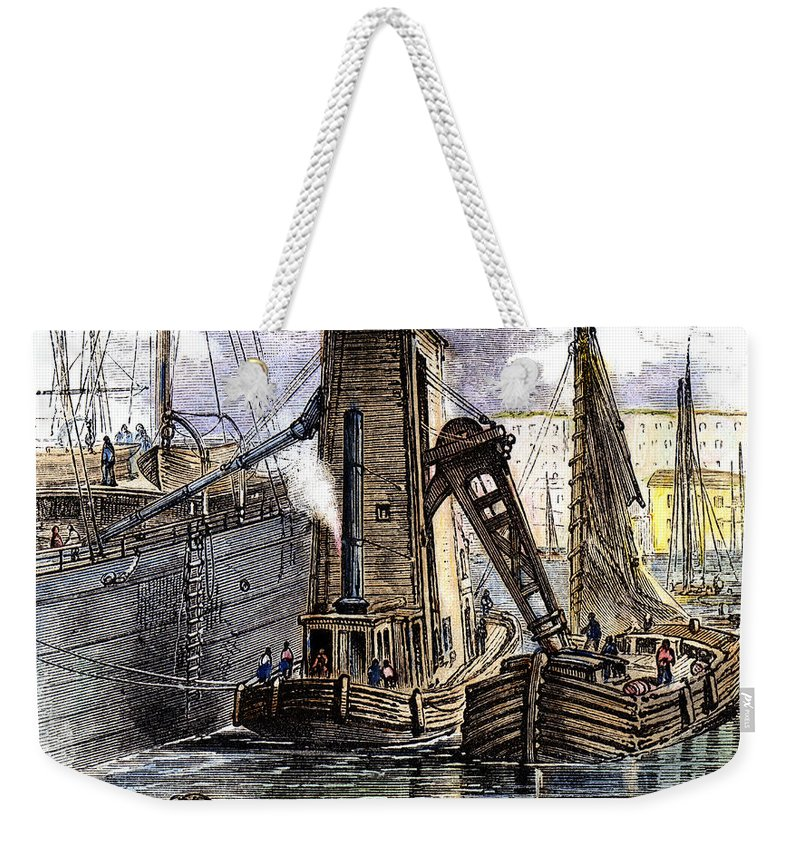 1877 Weekender Tote Bag featuring the photograph Grain Elevator, 1877 by Granger