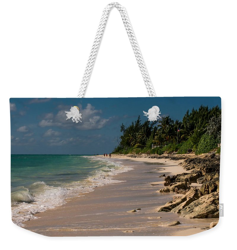 Beach Weekender Tote Bag featuring the photograph Grand Bahamas Beach by Zina Stromberg