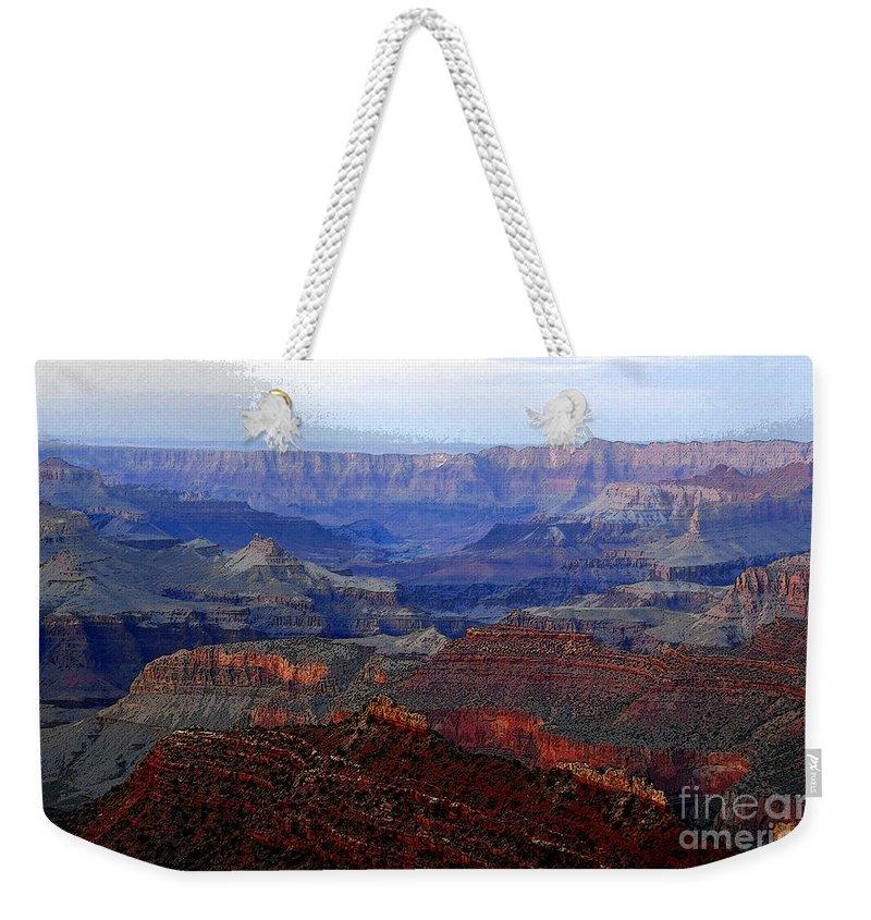 Art Weekender Tote Bag featuring the digital art Grand Canyon Arizona by David Lee Thompson