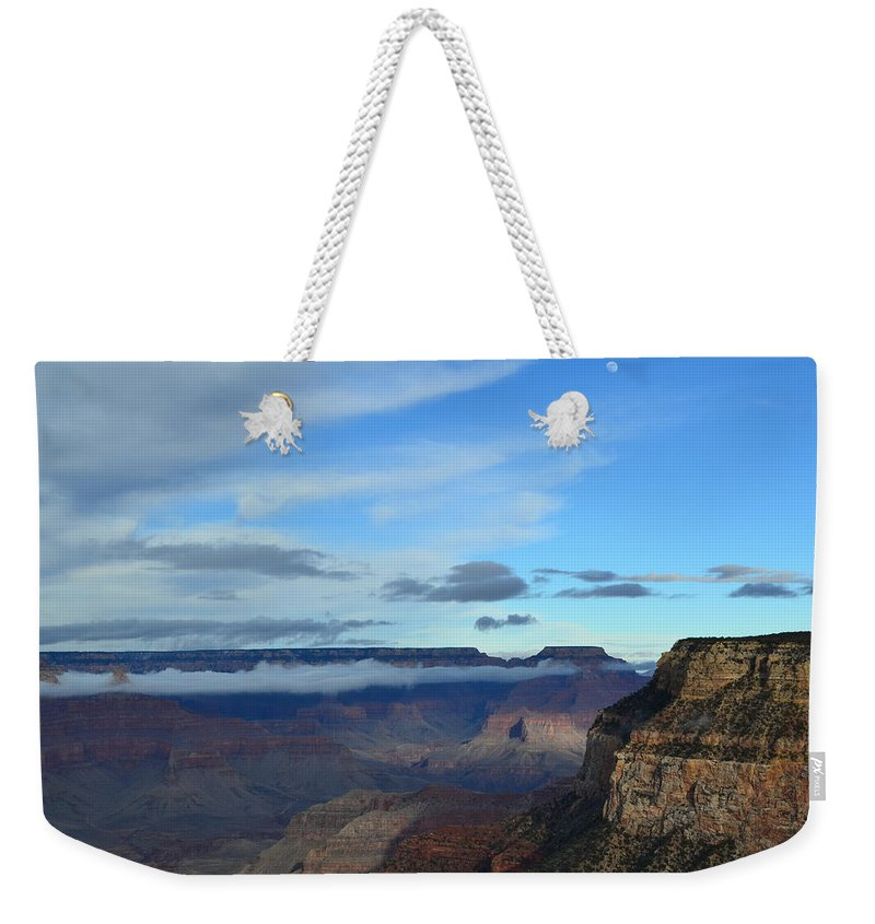 Grand Canyon Weekender Tote Bag featuring the photograph Grand Canyon Moonrise by Colleen Phaedra