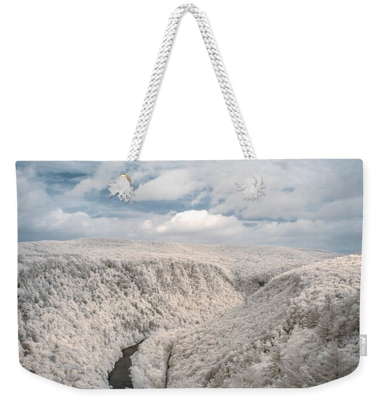 Forest Weekender Tote Bag featuring the photograph Grand Canyon Of Pa In Infrared by Guy Whiteley