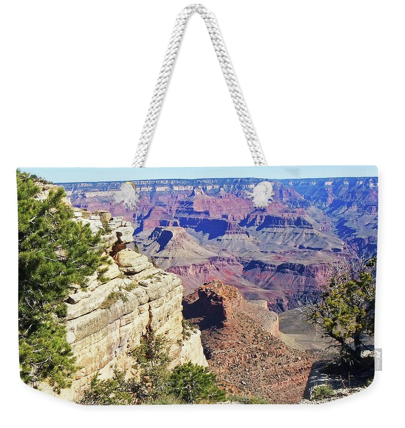The Grand Canyon Is Arizona's Wonder Of The World. Weekender Tote Bag featuring the photograph Grand Canyon21 by George Arthur Lareau
