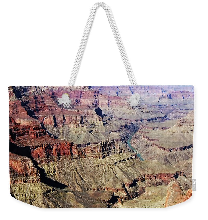 The Grand Canyon Is Arizona's Wonder Of The World. Weekender Tote Bag featuring the photograph Grand Canyon29 by George Arthur Lareau