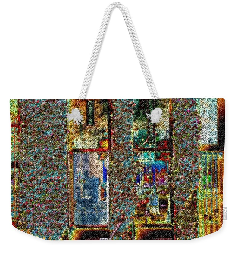 Seattle Weekender Tote Bag featuring the digital art Grand Central Bakery Mosaic by Tim Allen