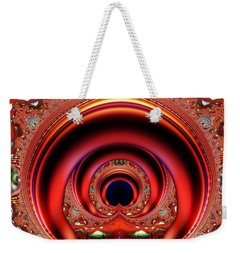 Fractal Weekender Tote Bag featuring the digital art Grand Entrance by Ron Bissett