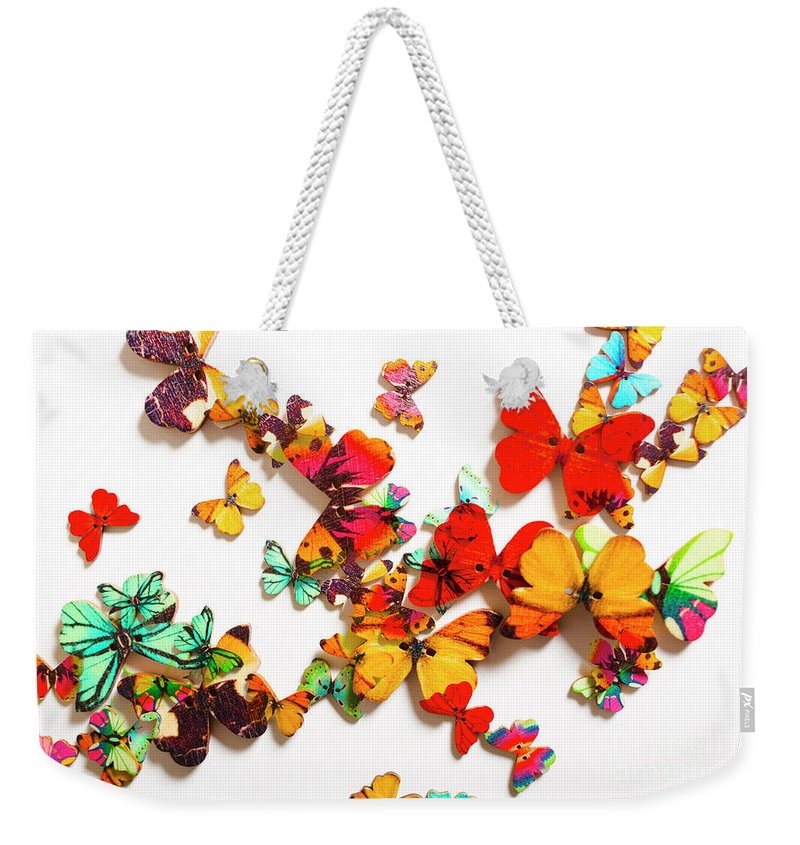 Butterfly Weekender Tote Bag featuring the photograph Grand Merger Of Unification by Jorgo Photography - Wall Art Gallery
