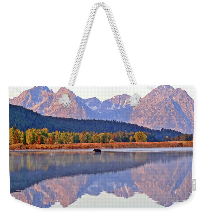 Mountain Weekender Tote Bag featuring the photograph Grand Reflections by Scott Mahon