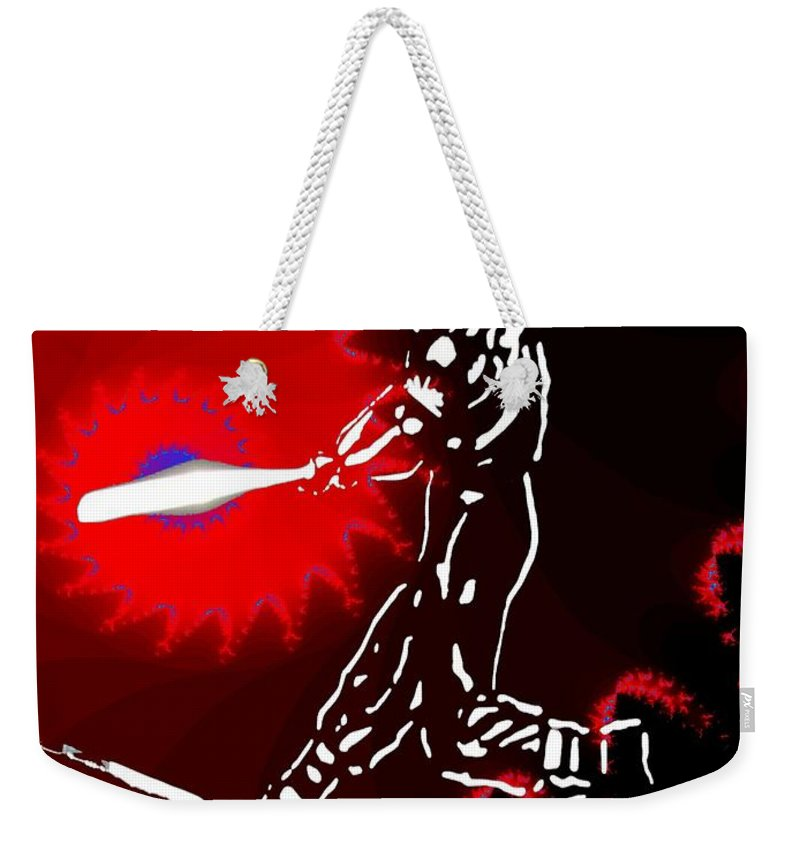 Baseball Weekender Tote Bag featuring the photograph Grand Salami 2 by Tim Allen
