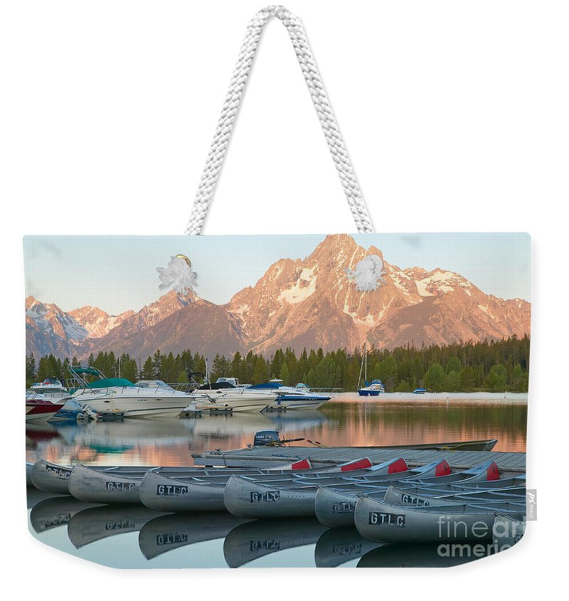 Clarence Holmes Weekender Tote Bag featuring the photograph Grand Teton Dawn IIi by Clarence Holmes