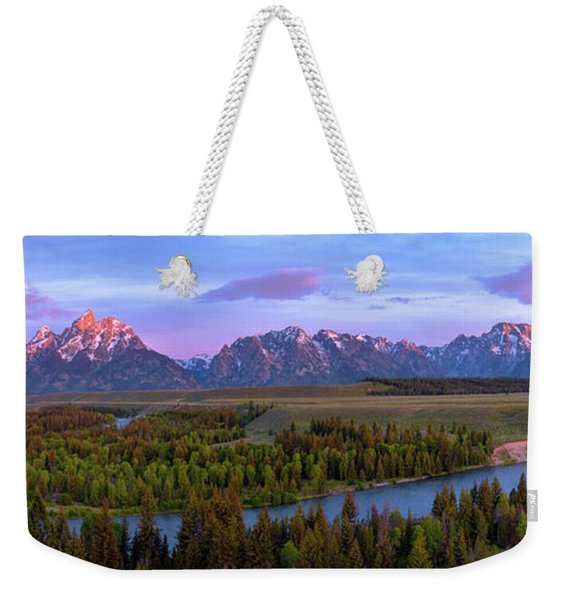 Mountainscape Weekender Tote Bags