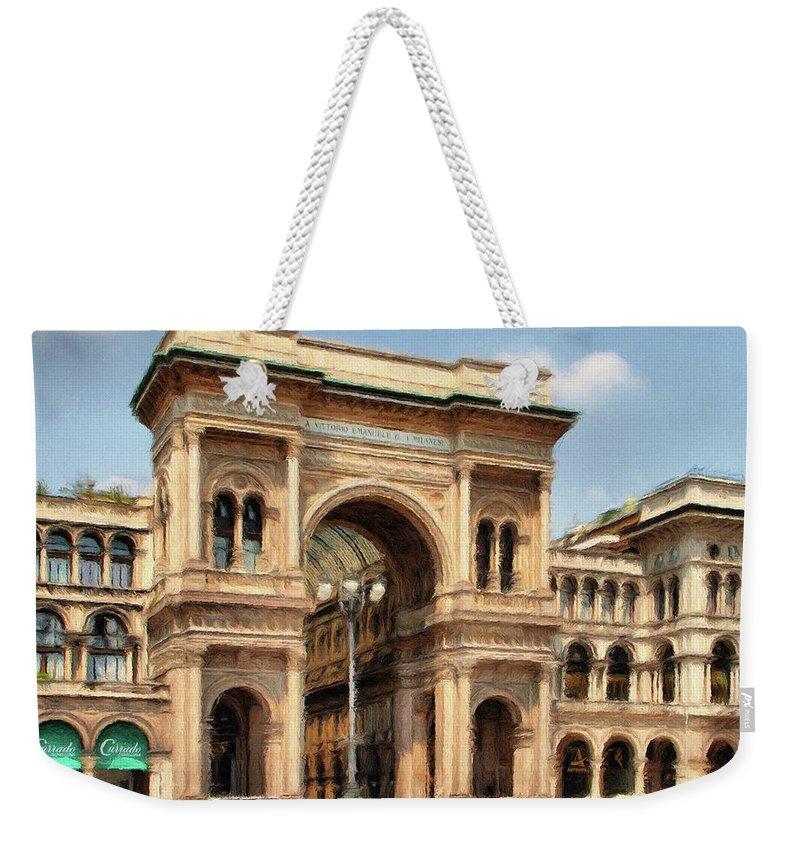 Mall Weekender Tote Bag featuring the painting Grande Ingresso by Jeffrey Kolker