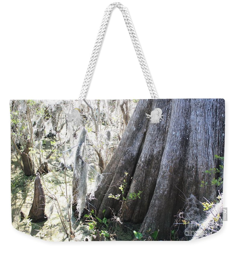 Old Cypress Weekender Tote Bag featuring the photograph Grandfather Cypress by Carol Groenen