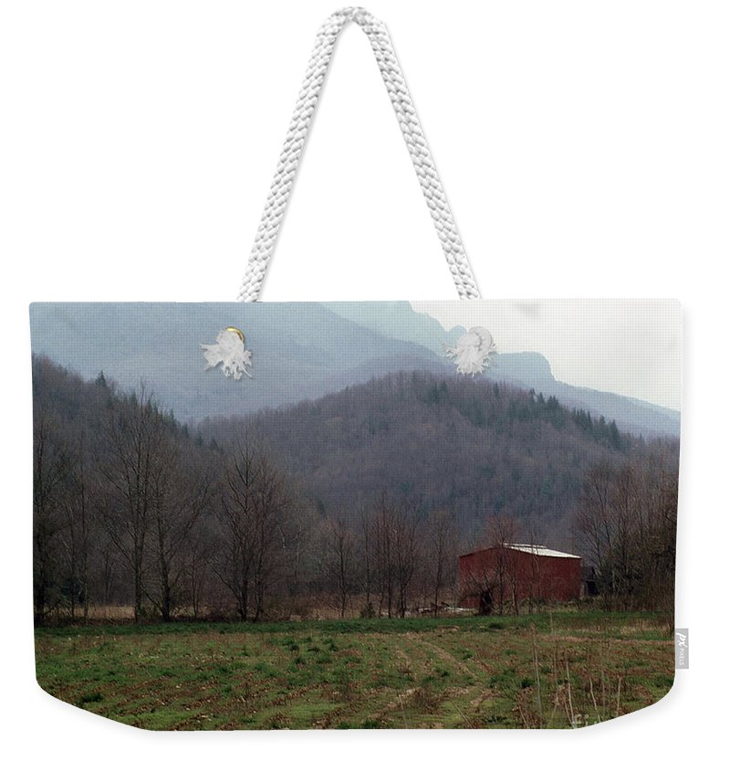 North Carolina Weekender Tote Bag featuring the photograph Grandfather Mountain by Richard Rizzo