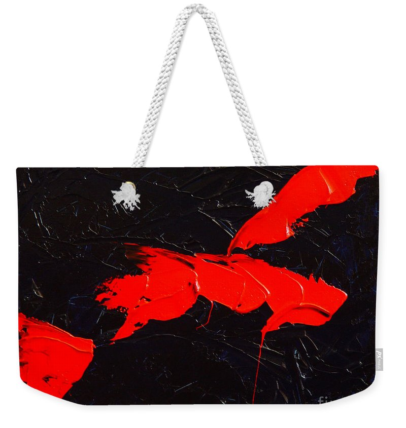 Abstract Weekender Tote Bag featuring the painting Grandma I by Dean Triolo
