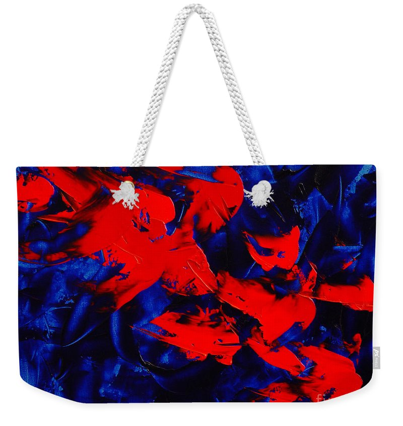 Abstract Weekender Tote Bag featuring the painting Grandma II by Dean Triolo