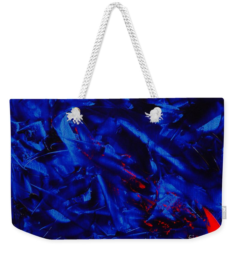 Abstract Weekender Tote Bag featuring the painting Grandma III by Dean Triolo