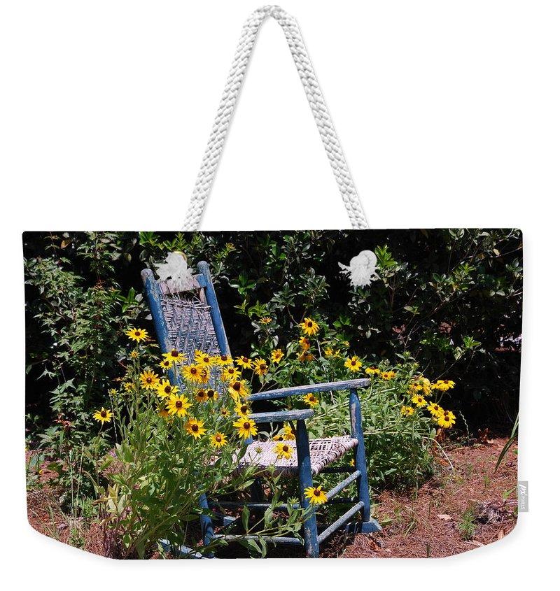 Rocking Chair Weekender Tote Bag featuring the photograph Grandma's Rocking Chair by Susanne Van Hulst