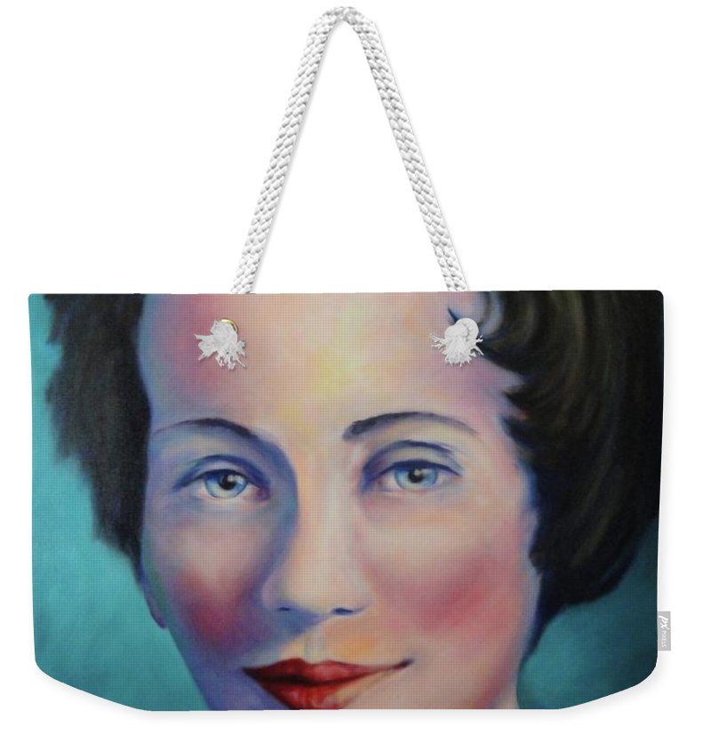 Painting Weekender Tote Bag featuring the painting Grandmother by Shannon Grissom