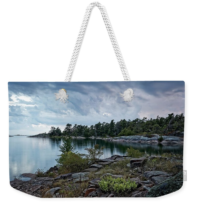 Archipelago Weekender Tote Bag featuring the photograph Granite Islands by Phill Doherty