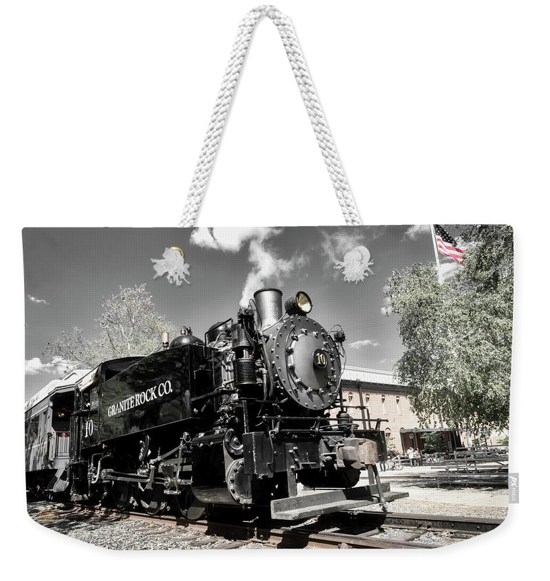 Buildings Weekender Tote Bag featuring the photograph Granite Rock Old #10 by Jim Thompson