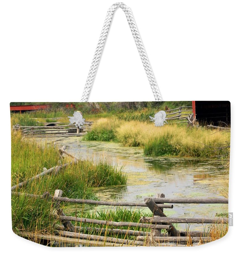 Ranch Weekender Tote Bag featuring the photograph Grants Khors Ranch Vertical by Marty Koch