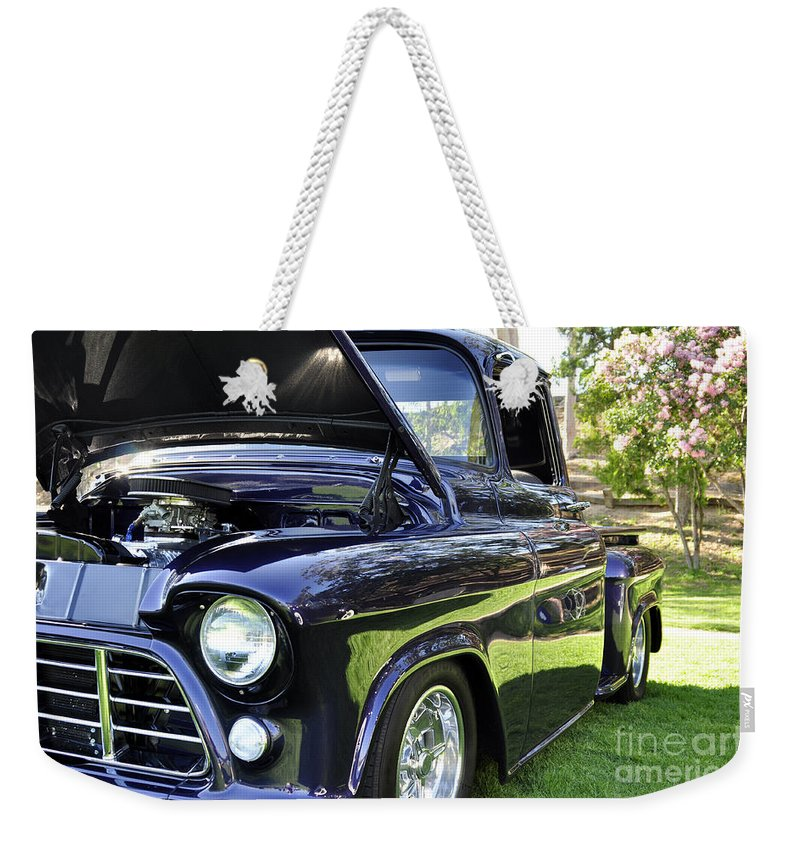 Clay Weekender Tote Bag featuring the photograph Grape Fully Blown Pickup by Clayton Bruster