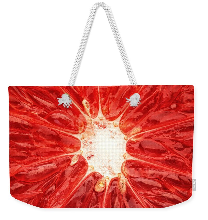 Grapefruit Weekender Tote Bags