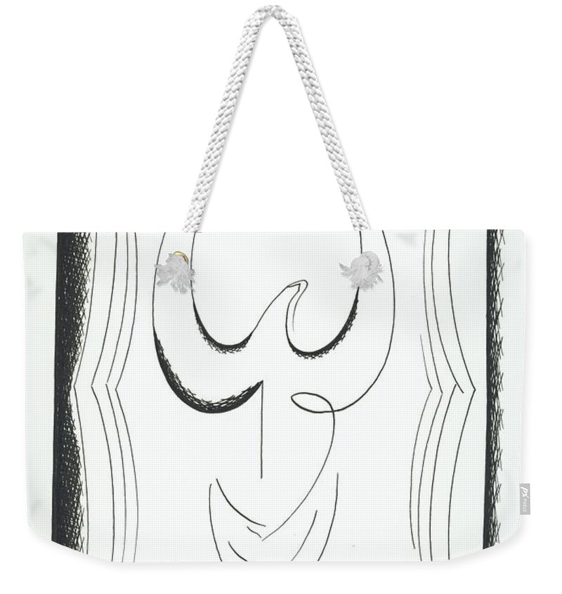 Graphics Weekender Tote Bag featuring the drawing Graphiks by Ira Mizkevish