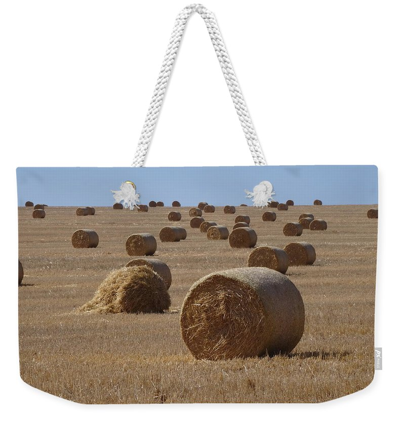 South Africa Weekender Tote Bag featuring the photograph Grass Roll by Victor Carvalho